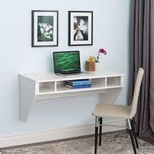 Wall Mounted Office Desk 42 Modern Floating Wall Mounted Desk In White Officedesk
