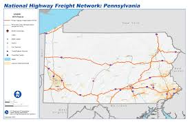 Map Of Philadelphia Airport National Highway Freight Network Map And Tables For Pennsylvania
