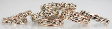 3 cords wedding ceremony cord of three wedding rings christian wedding bands made by