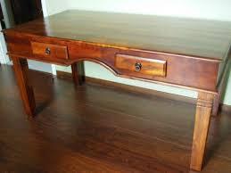 bureau bois massif occasion bureau en acacia massif meuble d occasion mymobilier petites
