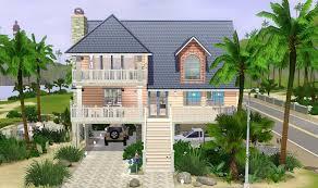 Beach House On Stilts Mod The Sims U0027coral Reef U0027 4 Bdr 4 Bath Beach House On Stilts