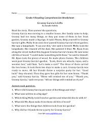 Reading Comprehension Worksheets 4th Grade 4th Grade Reading Worksheets U2013 Wallpapercraft
