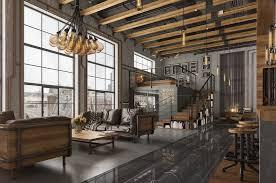 loft home decor livingroom loft living room design with modern industrial style