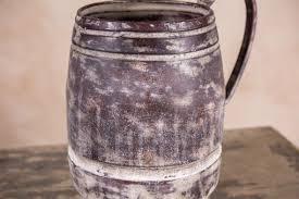 shabby chic jug vintage style metal decorative jug