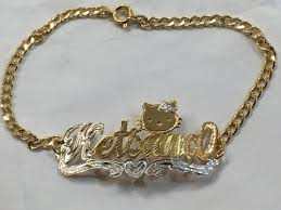 gold name bracelets single name bracelet personalized with any characters