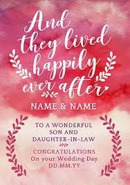Congratulations On Your Marriage Cards Wedding Cards Son U0026 Daughter In Law Funky Pigeon