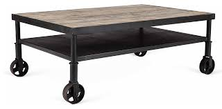 reclaimed wood coffee table with wheels industrial coffee table vintage industrial nutting cart coffee