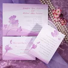 lavender wedding invitations plant wedding invitations