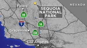 Sequoia National Park Map Arizona Hiker Missing In Freezing California Wilderness Abc7 Com