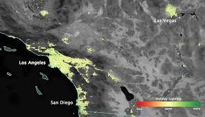 satellite sees holiday lights brighten cities nasa
