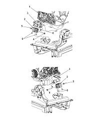 engine mounts for 2007 dodge nitro mopar parts giant