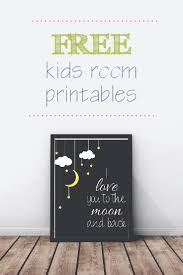 FREE Kids Room Wall Prints - Prints for kids rooms