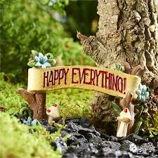 happy everything sign fairy garden accessories archives page 3 of 5 fairy gardening