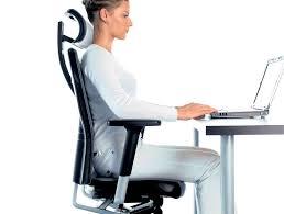 desk chair with headrest profim one ergonomic chair with user backbone based