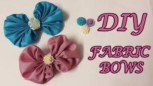 fabric bows diy fabric bows fabric hair bows tutorial how to