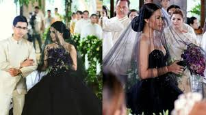 black wedding maja salvador in black wedding gown stuns netizens push ph