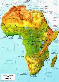 mapa de africa mapa relieve de africa