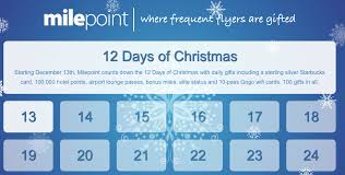milepoint promotion offering 12 days of giveaways