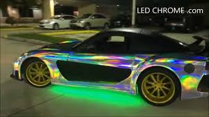 chrome wrapped cars led chrome com the first color change chrome wrap in the world
