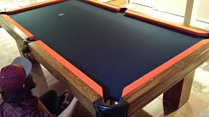 denver broncos pool table cloth on an 8 foot brunswick pool table