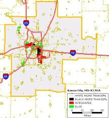 kansas city metro map black white housing patterns in kansas city