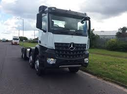 mercedes truck white mercedes benz arocs 4148k chassis bell truck and van