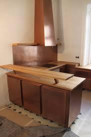 Wohnzimmerm El Eiche Massiv Küche Mit Kupfer Lackiert Und Einer Arbeitsplatte In Eiche