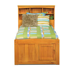 ranger twin bookcase bed with 6 underbed drawers pine american