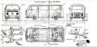 volkswagen drawing thesamba com bay window bus view topic technical drawings