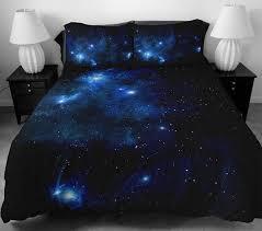Galaxy Bed Set Blue Galaxy Bedding Set Blue Galaxy Duvet Cover 2 Pillowcases