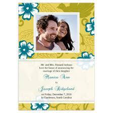 wedding announcement cards hibiscus wedding announcement cards flat cards personalized