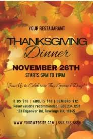 customizable design templates for thanksgiving restaurant poster