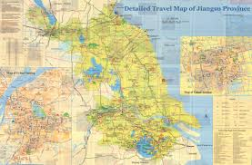 Map Of Shanghai China by Detailed Travel Map Of Jiangsu Province Jpg