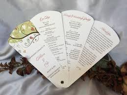 petal fan wedding programs birds petal fan wedding program the wedding sophisticate