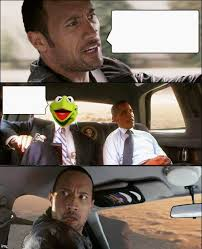 Rock Driving Meme - the rock driving kermit and barack obama blank template imgflip