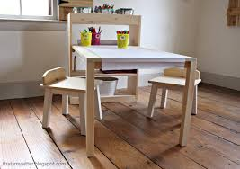 Free Wood Desk Chair Plans by Ana White Kids Art Center Diy Projects
