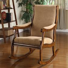 Wooden Rocking Chairs by Furniture Beautiful Upholstered Rocking Chair For Home Furniture