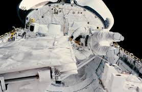 space shuttle astronaut astronaut kathryn sullivan on oct 11 1984 spacewalk nasa