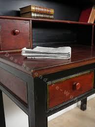 Schreibtisch Kolonialstil Chinesischer Sekretär Schreibtisch Rotbraun Und Rot Schwarz Das