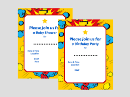 superhero invitations magical printable