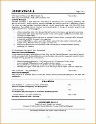 General Manager Resume Example Restaurant Manager Resume Sample Resume For Your Job Application