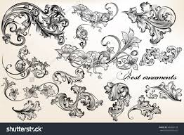 collection set beautiful vector ornaments stock vector