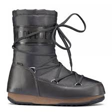 boots uk waterproof moonboot moon boots shade mid anthracite waterproof iconic