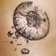 grandfather clock tattoo sketch photo 2 2017 real photo
