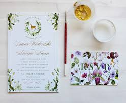 wedding invitations gold coast a peek into the studio watercolor and gold foil botanical