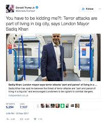 sadiq khan finally responds to london terror attack after being