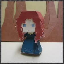 brave princess merida free paper toy download