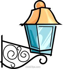 outside lamp royalty free vector clip art illustration vc038585
