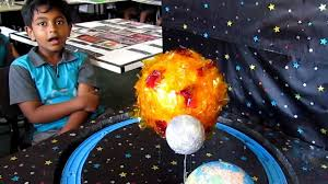 grade three science project earth moon sun