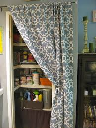 Kitchen Door Curtain Ideas Use A Curtain Instead Of A Door Kitchen Storage Pantry Ideas